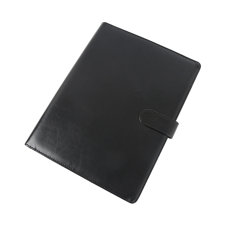 Hot koop a4 zwart goedkope klembord leer document portfolio map met kaarthouder, pu leather portfolio map met pen