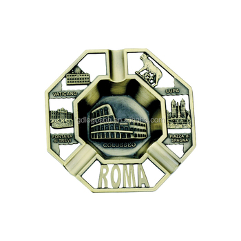 Rome Colosseum Fontana Di Trevi Custom Ashtray Rome Tourist Ashtray With Custom Logo
