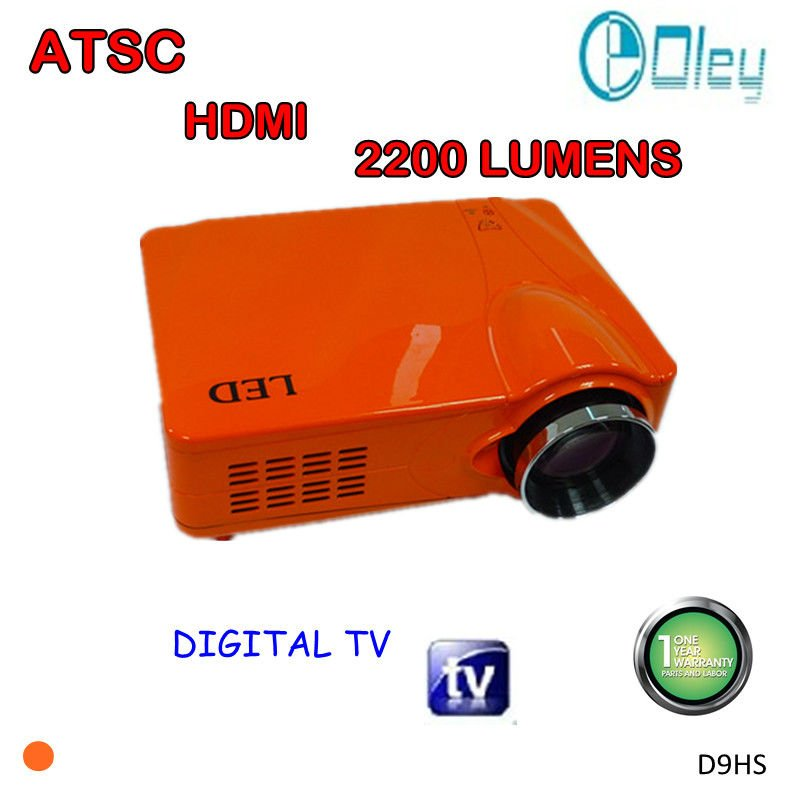 led video projector HDMI 1080p with ATSC