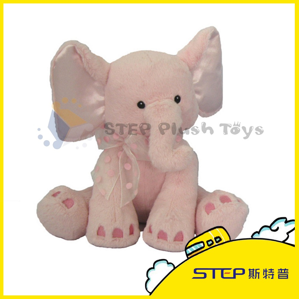 Plush Pink Elephant Toy /Stuffed Plush Toy /Cute Elephant with Big Ear