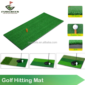 Fungreen Golf Mini Hitting Mat Indoor Golf Putter Trainer Rubber Tee Holder 30*60cm