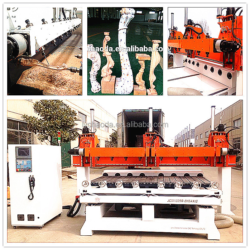 Copy router for woodcarvers / 5 axis multi head cnc router
