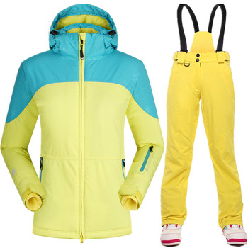 15f856633e8 De invierno-Mujer-chaqueta-Chaqueta de pantalones traje impermeable de esquí  transpirable térmico