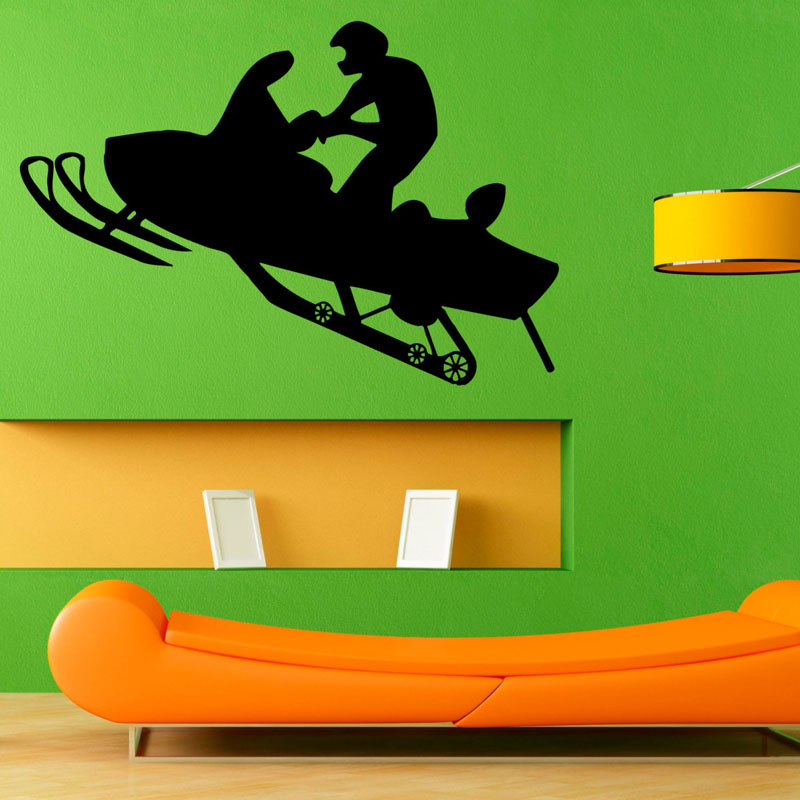Racing Winter Sport Wall Decal Sticker Snowmobiles Vinyl Art Wall Stickers Home Decor For Living Room Decal