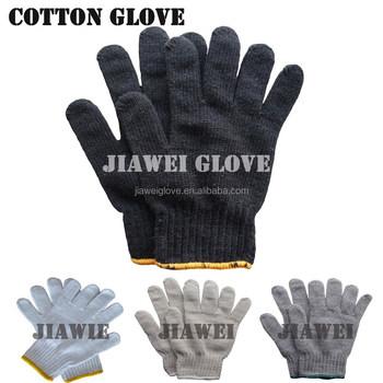 Nero poli guanti di cotone guanti di cotone lavorato a maglia poli guanti  neri guantes 58fc74046aea
