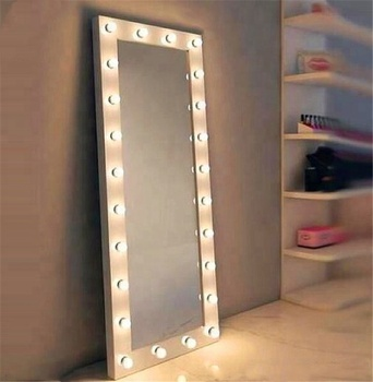 L Ilumay Hollywood Vanity Style Led Lighted Full Length Salon Mirror With Dimmable Light