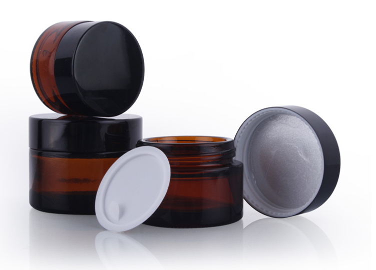 5ml small size glass jar,eye cream jar with black cap for samples products