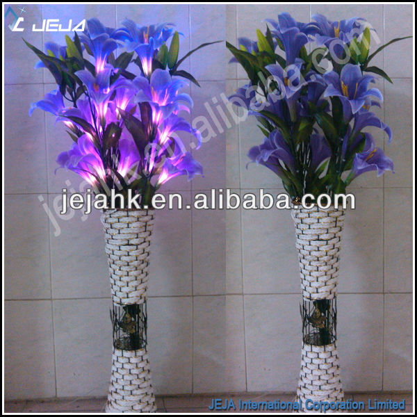 wedding decoration materials led lily vase floor