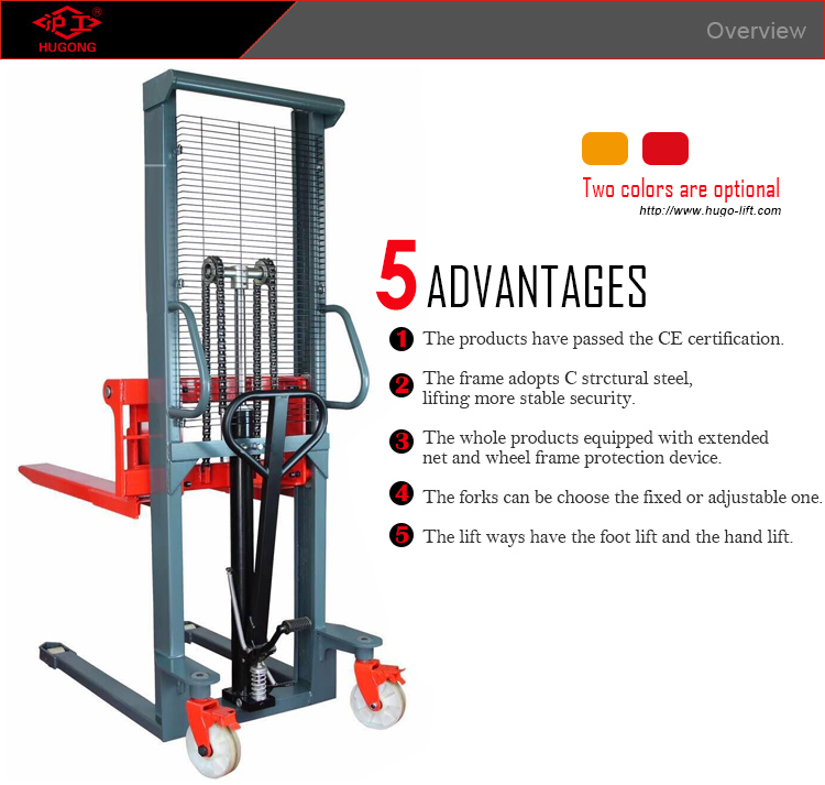 hand pallet stacker lift with 1000kg 1500kg 2000kg (0)