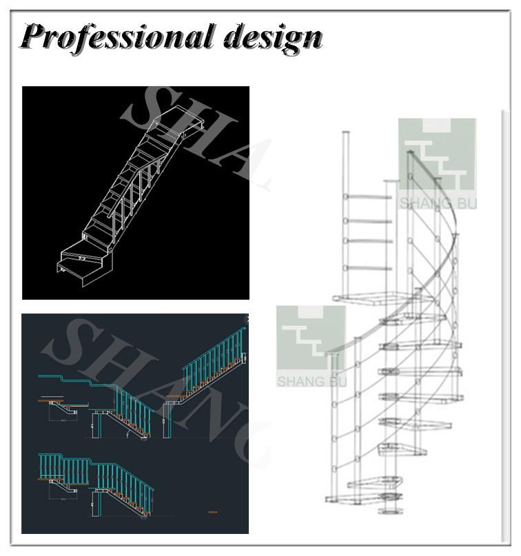 Indoor kelder modulaire trappen ontwerp indoor prefab metalen trappen