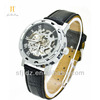 Skeleton Hollow Automatic Wrist watch tv mobile phone with leather band Wrist watch tv mobile phone