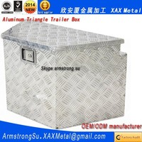 XAX1390Alu OEM ODM customized amooca center console tray aluminum Automotive triangle trailer box