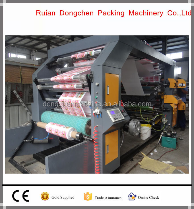 Wenzhou factory price for high speed 4 colors plastic PE film roll flexo printing machine