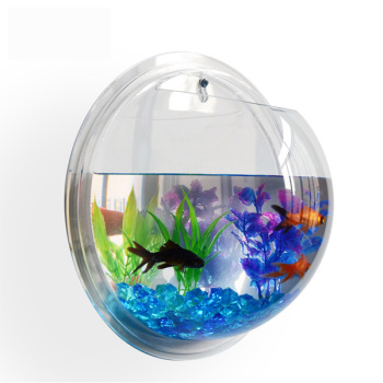 Amazon Hot Sale Decoration Acrylic Plant Stand Acrylic Fish Tank Round Clear Fish Bowl