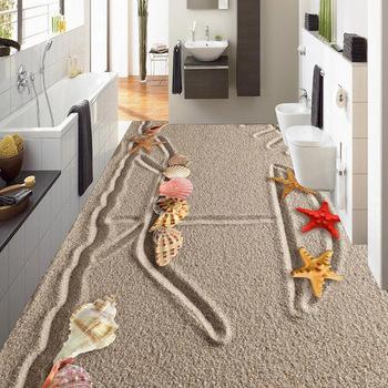 Pvc-boden 3d Badezimmer Wand Design Laminiert Stein Strand Sand Für  Gewerbliche Und Hausgebrauch - Buy 3d Boden Strand Sand Design,Laminatboden  Stein ...
