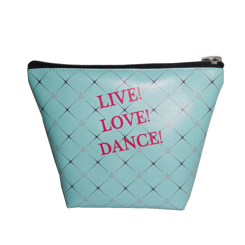 Love Dance Printing Cosmetic Bag PVC Leather Cosmetic Pouch