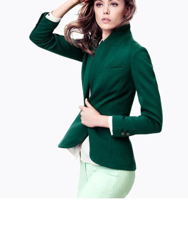 Womens Green Blazer