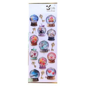 Silicone Window 3D Clear Epoxy Well Being And Charming Crystal Sticker