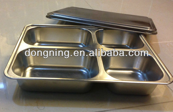 stainless steel food tray with cover
