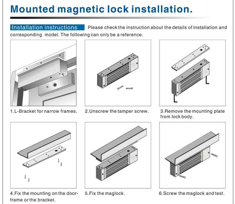 600lbs 280kg Magnetic Door Lock System Protect Single