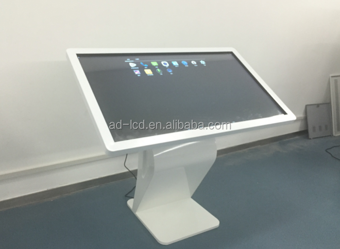 wall hanging shopping mall/hotel/restaurant touch screen advertising player