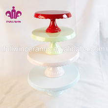 Home products party wooden cake stand with 3 tier and metal cake stand