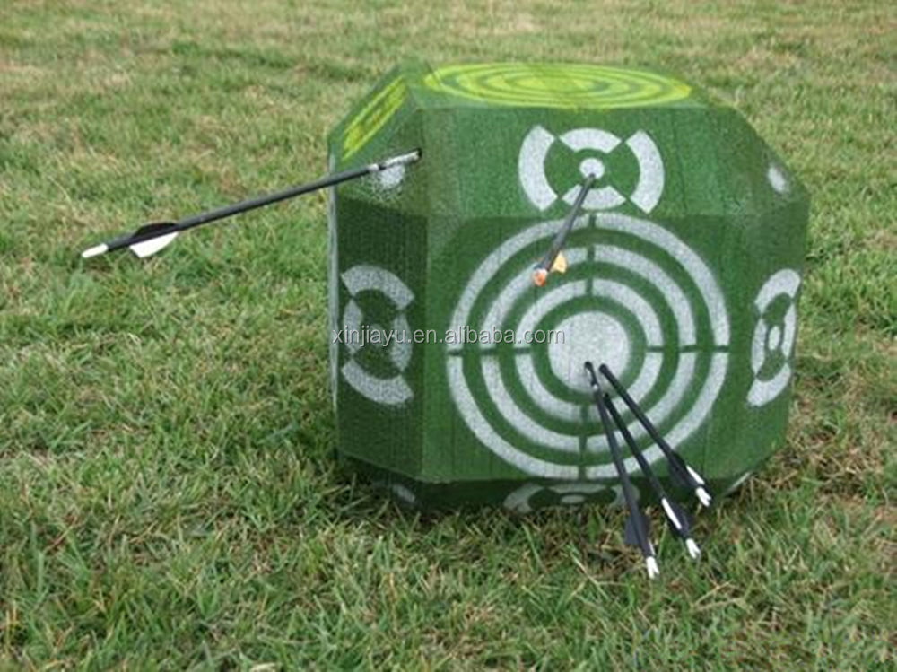 Foam 3D cube archery target with 26 sides for outdoor shooting practice