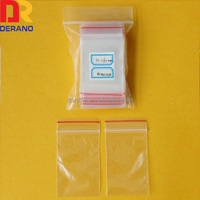 Custom LDPE Transparent Grip Seal Bag with White Zipper