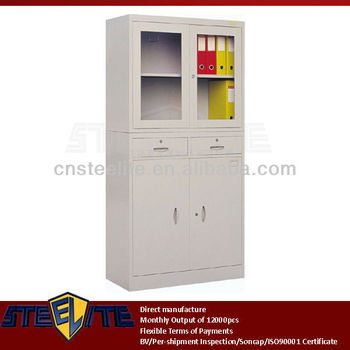 glass door bookcase laboratory cabinet cupboard door metal filing cabinet