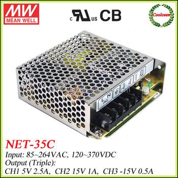 Meanwell NET-35C 35w multiple output smps, View 5v 12v -5V multiple ...