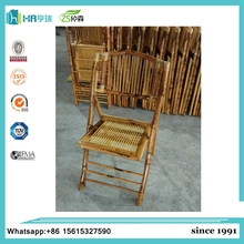 Portable wooden bamboo folding wedding chair