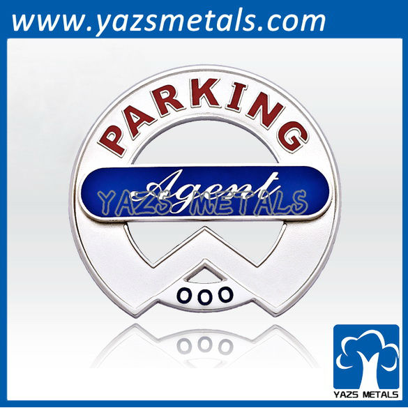 custom made high quality 3D encoding military badges of parking agent