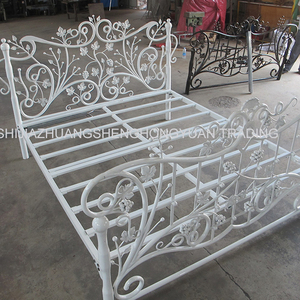 wrought iron indoor furniture wrought iron double bed with factory price