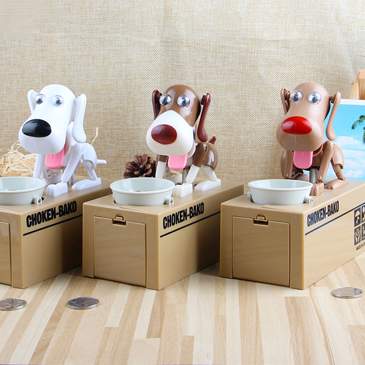 Robotic Dogs Automatic Stole Coin Piggy Bank Money Saving Box Dropship Bako money saving box pooping dog coin bank