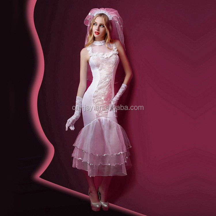 Adult shop white beauty women mesh covers sexy bride for Sexy wedding dress costume
