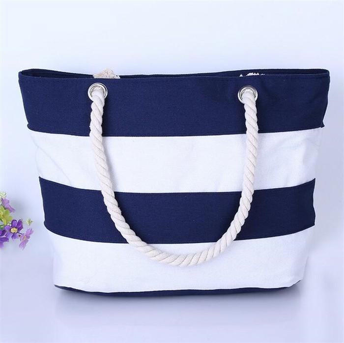 2017 Wholesale Korean Leisure Travel Shopping Bag Canvas Beach Bag ...
