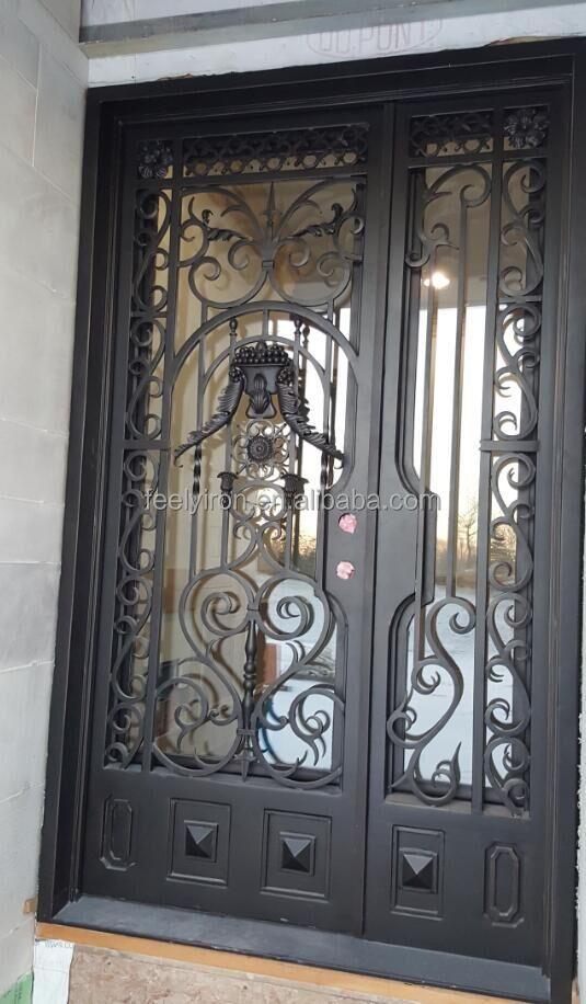 ronda de hierro forjado sola puerta de entrada