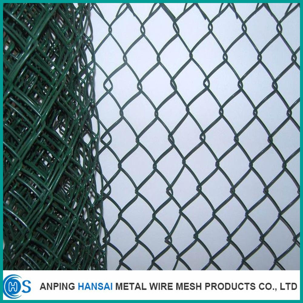 High quality galvanized chain link fence/pvc coated chain link fence
