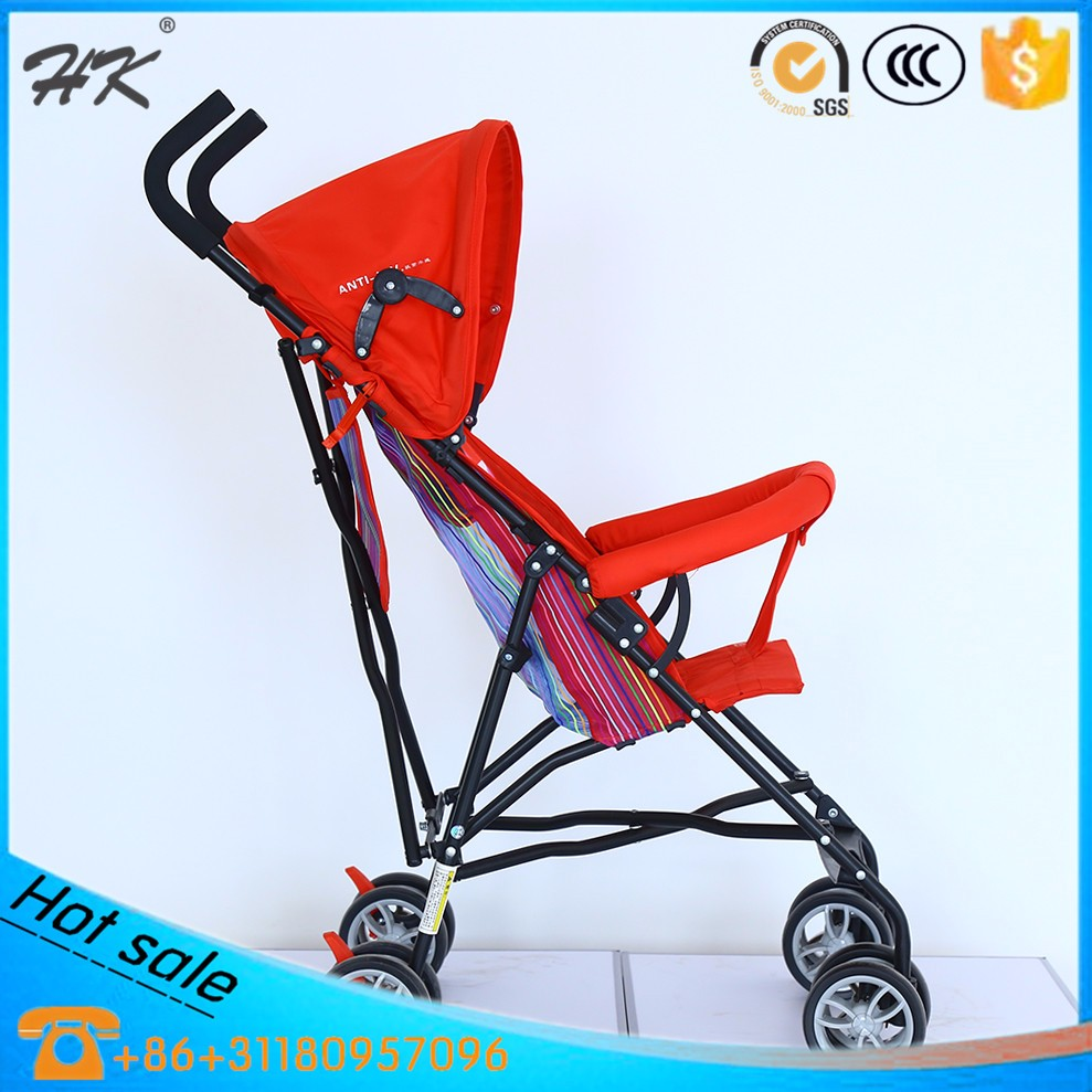 Baby stroller with shopping bag/colorful umbrella stroller/rolled up cushion baby stroller
