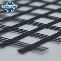 Foundation enhancement geogrid 100KN polyester For slope and retaining wall protection