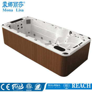 Swimming pool fiberglass double whirlpool swimming pool for Fiberglass garden tubs