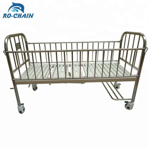 RCE12-A cheap 2 crank manual flat stainless-steel metal high rail pediatric baby children hospital sand bed prices for sale