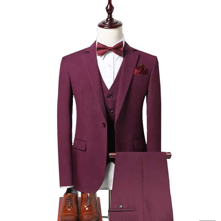 high quality oem pant coat design wedding pictures 2 pieces suits set for men without vest