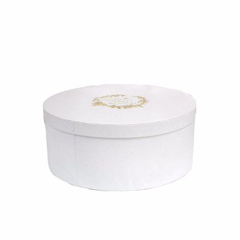 portable new large wedding vintage white round travel cardboard cowboy/baseball vintage style jewelry box  packaging hat box