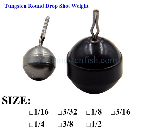 Tungsten round drop shot weight type wholesale fishing for Cheap tungsten fishing weights