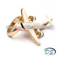 High quality gold plated airplane ring