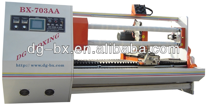 BX-703AA Double Shafts With Double Knives Cutter Machine For Adhesive Tape,Film,Fabric,Vinyl