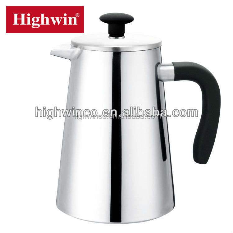 Stainless Steel High Grade Coffee Plunger double wall metal French coffee press coffee pot with 34oz