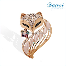 Fashion Jewelry Brooches Gorgeous Alloy Fox Brooch