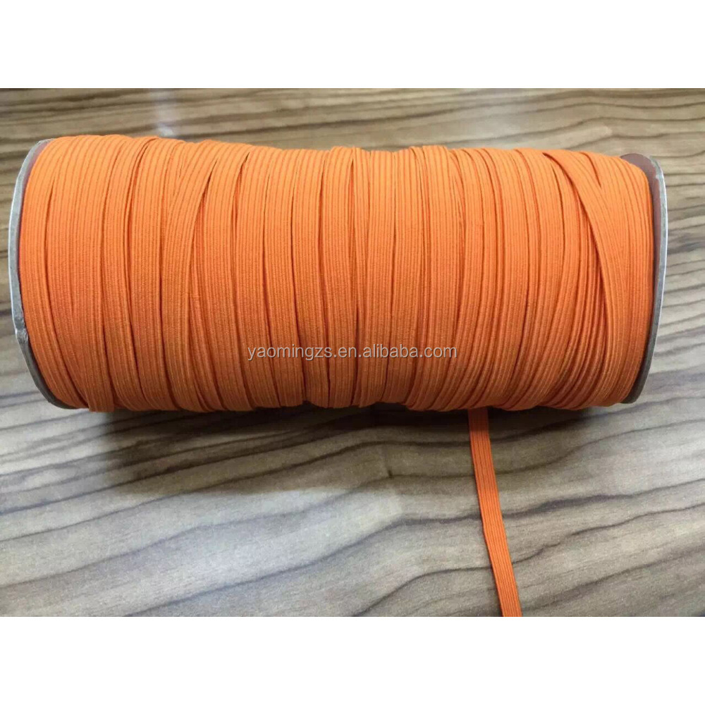 Custom high strength colourful flat braided elastic band